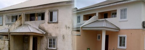 Renovation works at Lekki County Homes